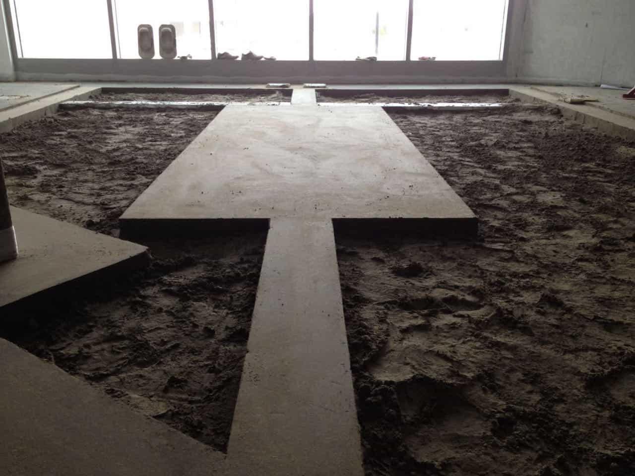 Semi-dry Floor Screed